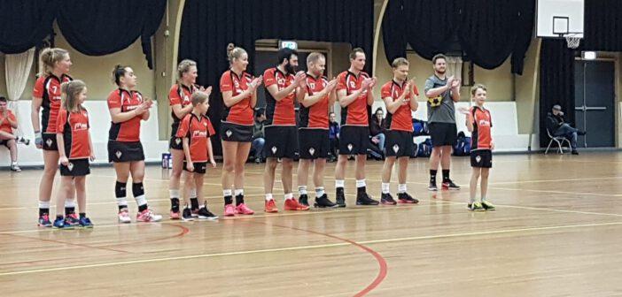 Korfballers Sparta winnen van het Friese DTL uit Hantum